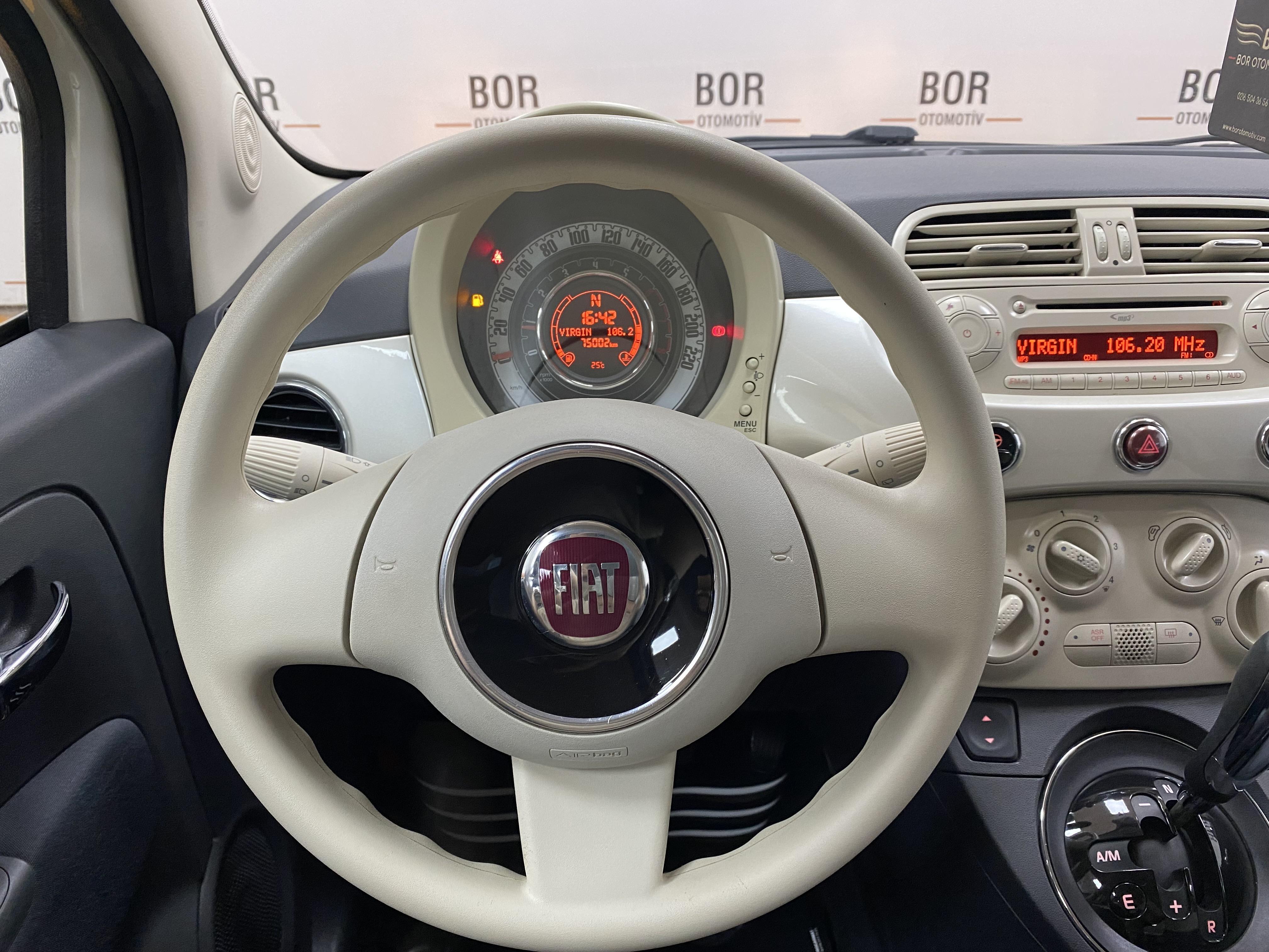 2012*Fiat 500 1.2 Pop*Otomatik*75.000 Km'de*Bakımlı full